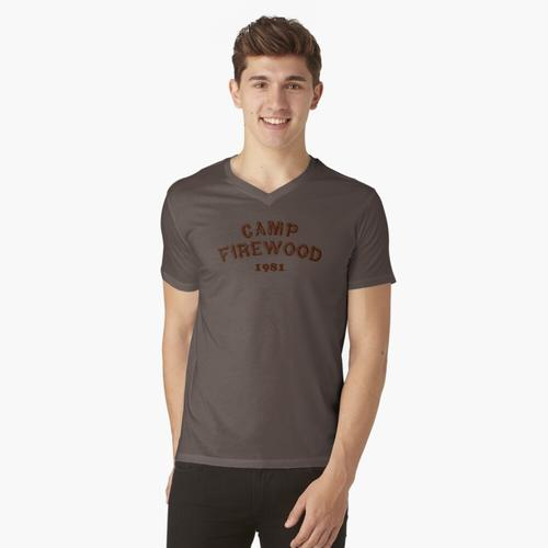 Lager Brennholz t-shirt:vneck