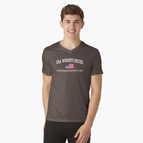 USA FRAUENFUSSBALL t-shirt:vneck