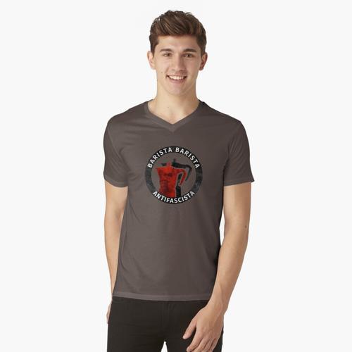 Barista Barista Antifascista t-shirt:vneck
