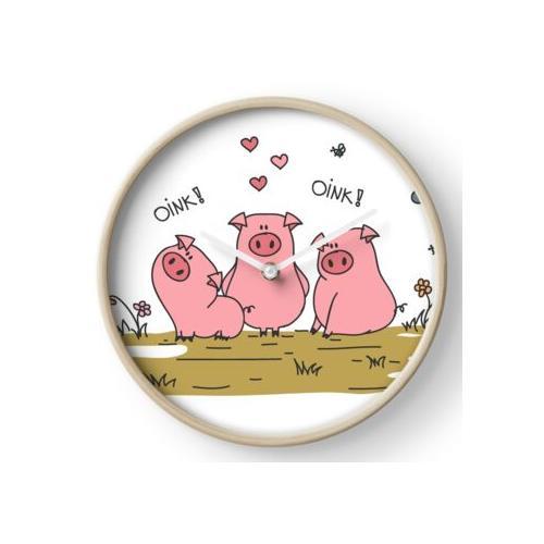 Drei kleine Schweine Uhr