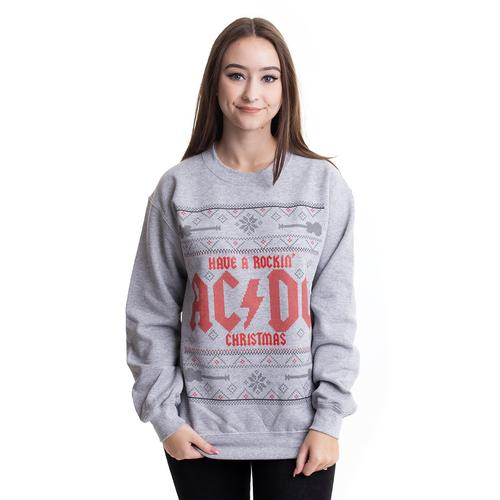 AC/DC - Have a Rockin Christmas Grey - Sweater
