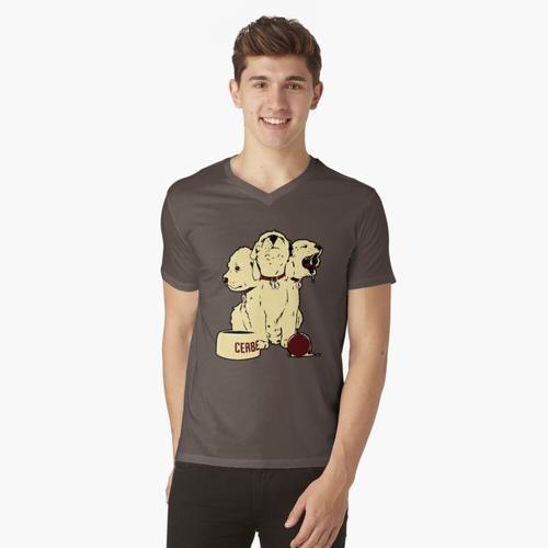 Triheads Dog Cerberus t-shirt:vneck