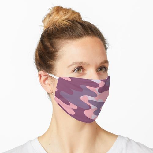 Lila Tarnmuster - Lila Tarnmuster Maske