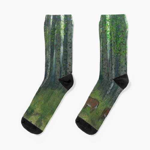 Hirsch im Wald Socken