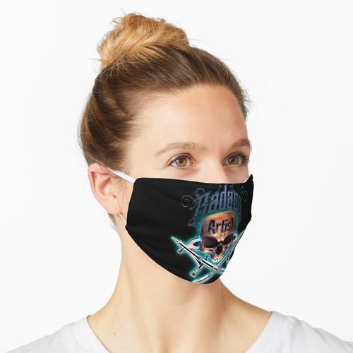 Badass Airbrush Artist Skull & Airbrushes von OrganicBeej Maske
