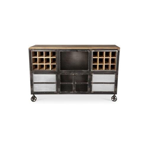 Privatefloor - Industrial Style Weinregal mit Rädern Steel