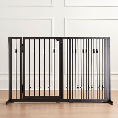 "Benson Pet Gates - Black, 34""H Black Free-Standing - Frontgate"