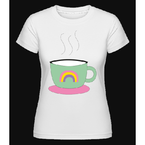Regenbogen Kaffee Tasse - Shirtinator Frauen T-Shirt