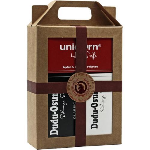 Unicorn Geschenk-Set unicorn Haarseife 100g + Dudu Osun Classic & Pure 150g Körperpflegeset