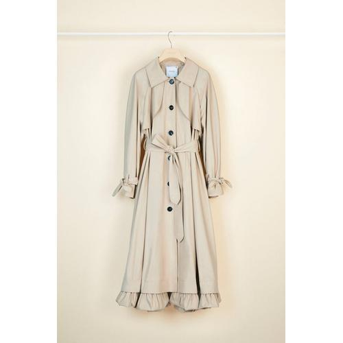 Patou Trench Coat aus Baumwoll-Gabardine