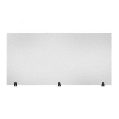 """Reclaim Frosted Acrylic Sneeze Guard Desk Divider - 60"""" x 30"""" Tabletop - Luxor DIVTT-6030F"""