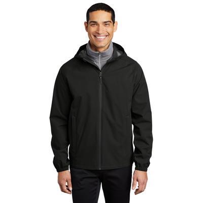 Port Authority J407 Essential Rain Jacket in Deep Black size Medium | Polyester