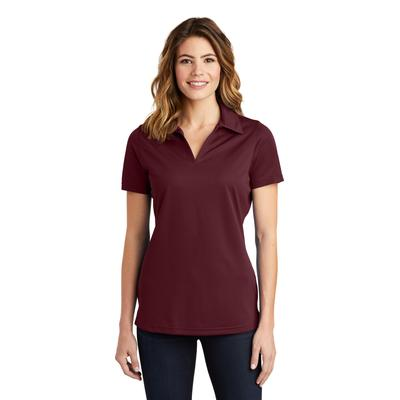 Sport-Tek LST690 Women's PosiCharge Active Textured Polo Shirt in Maroon size 3XL | Polyester