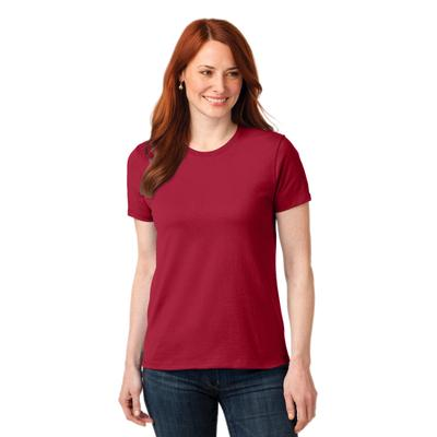 Port & Company LPC55 Women's Core Blend Top in Red size XL | Cotton Polyester