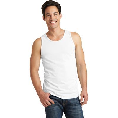 Port & Company PC099TT Men's Beach Wash Garment-Dyed Tank Top in White size 4XL   Cotton