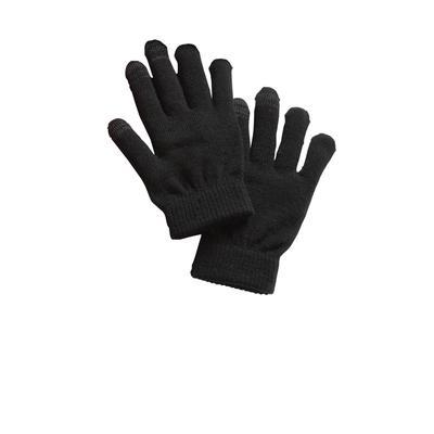 Sport-Tek STA01 Spectator Gloves in Black size Large/XL | Polyester Blend