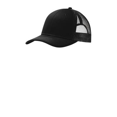 Port Authority C112 Snapback Trucker Cap in Black size OSFA   Cotton