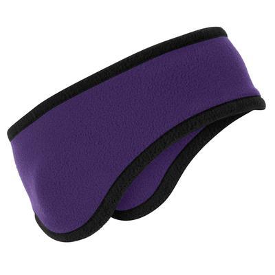 Port Authority C916 Two-Color Fleece Headband in Purple size OSFA
