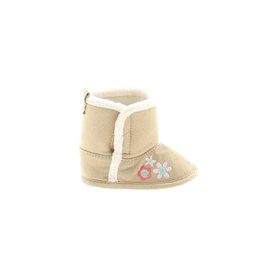 Child of Mine by Carter's - Child of Mine by Carter's Booties: Tan Solid Shoes - Size 3