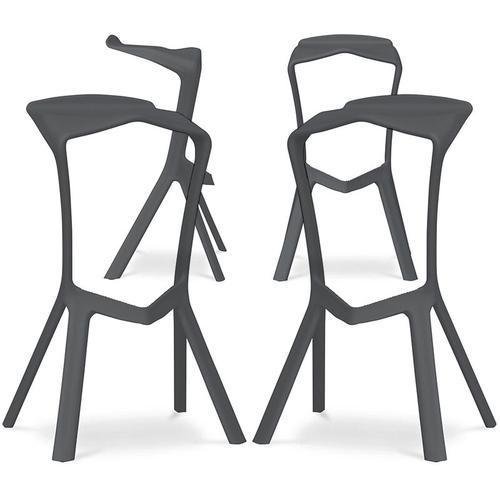Marcus Design Hocker - Pack von 4 Grau