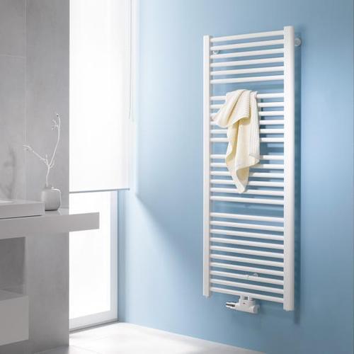 Kermi Basic-50 Badheizkörper für Warmwasser- oder Mischbetrieb B: 52,4 H: 117,2 cm weiß, 586 Watt E001M1200502XXK
