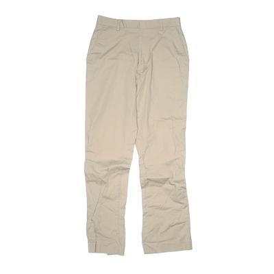 Ike Behar Khaki Pant: Tan Solid ...