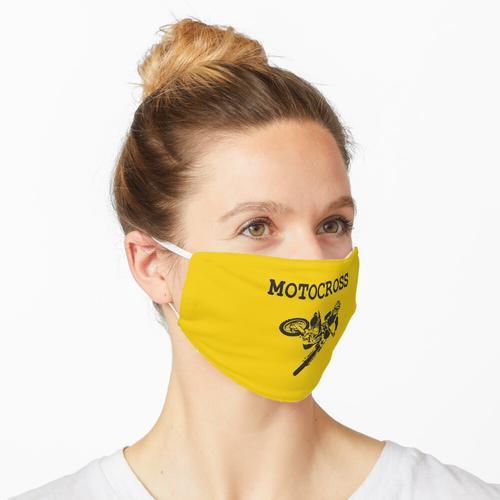 Motocross-Action Maske
