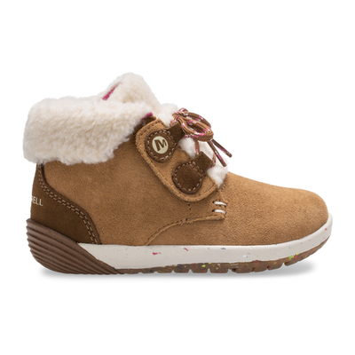 Merrell Kid's Bare Steps� Cocoa Jr. Boot, Size: 4.5, Chestnut Suede