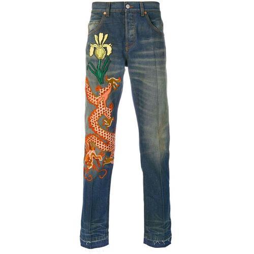 Gucci Jeans mit Drachen-Patch