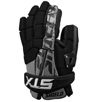 STX Shield 300 Men's Lacrosse Goalie Gloves Black