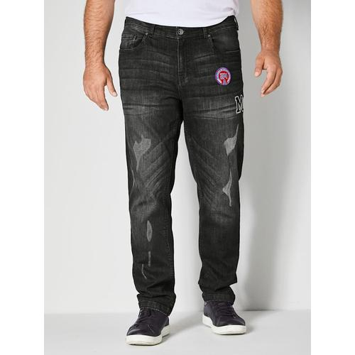 Tapered-Jeans Men Plus Black