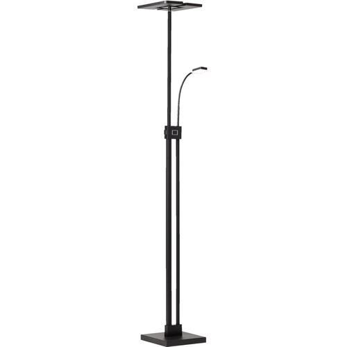 Deckenfluter - Stehlampe LED dimmbar, mit Leselampe - 230cm - in der Höhe verstellbar -Warmweißes