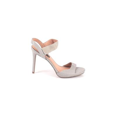 Steven by Steve Madden Heels: Gray Solid Shoes - Size 9
