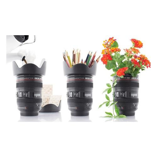 4x Kaffeebecher - Kamera Objektiv