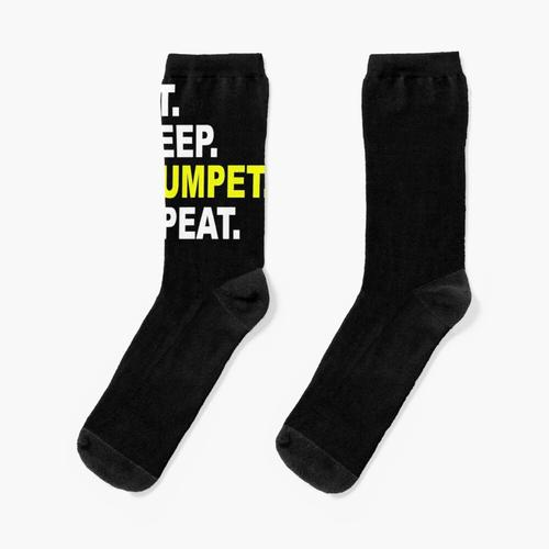 Eat Sleep Trumpet Repeat. Socken