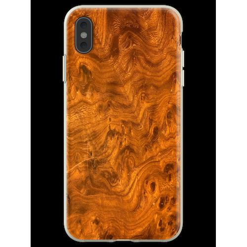 Vogelaugenahornholz Flexible Hülle für iPhone XS Max