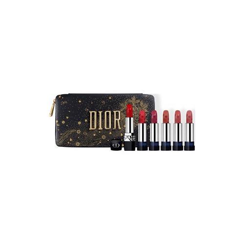 DIOR Look Holiday Look 2020 Golden Nights Collection Geschenkset Rouge Dior 999 4 g + Satiniertes Finish Rouge Dior 999 4 g + Mattes Finish Rouge Dior 988 4 g + Satiniertes Finish Rouge Dior 481 4 g + Mattes Finish Rouge Dior 458 4 g + Satiniertes...