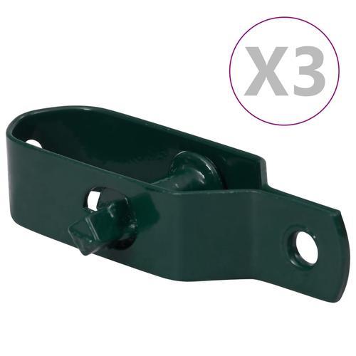 vidaXL Zaun-Drahtspanner 3 Stk. 100 mm Stahl Grün