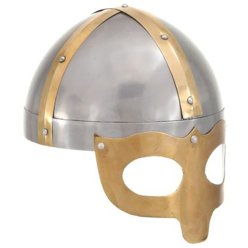 vidaXL Wikinger-Helm Antik Replik LARP Silbern Stahl