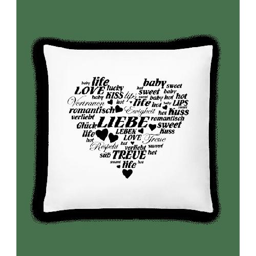 Herz Voller Wörter - Kissen