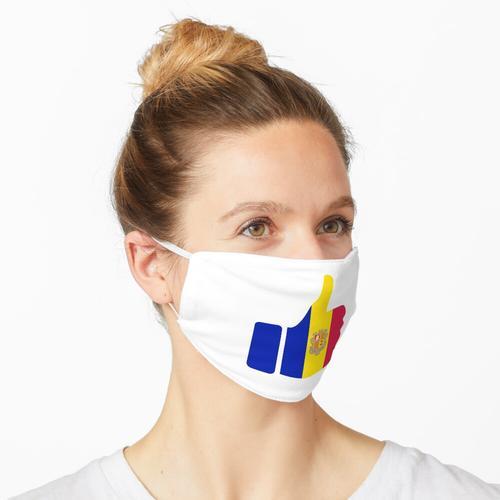 Fahnen-Daumen von Andorra Maske