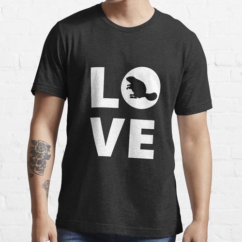 Biber-Liebes-Biber-Liebhaber-Biber-Geschenk, Biber-Biber-Biber-Schwarz-Biber-Gesch Essential T-Shirt