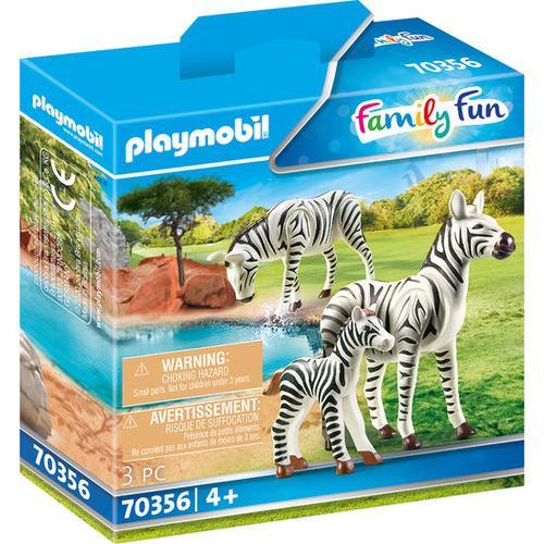 PLAYMOBIL® Family Fun 70356 2 Zebras mit Baby, bunt