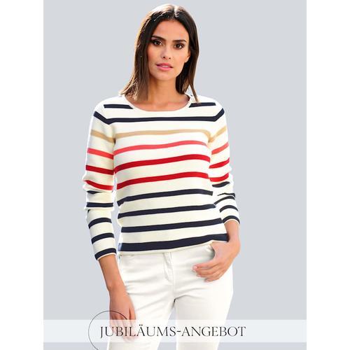 Alba Moda, Pullover aus schöner Pima Baumwolle, weiß