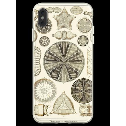 Tafel 04. Kieselalgen, mikroskopisch kleine Meerestiere. Flexible Hülle für iPhone XS Max