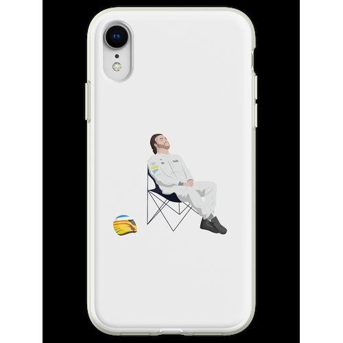 Fernando Alonso Liegestuhl F1 Flexible Hülle für iPhone XR