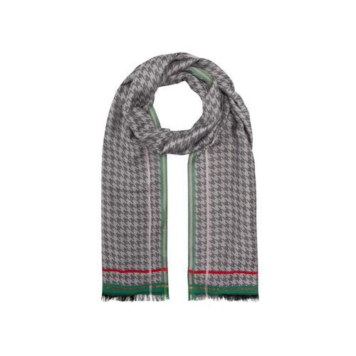 Edler Hahnentritt-Schal aus Viskose mit Glanzstreifen Codello grey