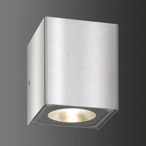 LCD 5026 LED Wandleuchte B: 10,8 H: 11,2 T: 10,8 cm, edelstahl 5026, EEK: A+