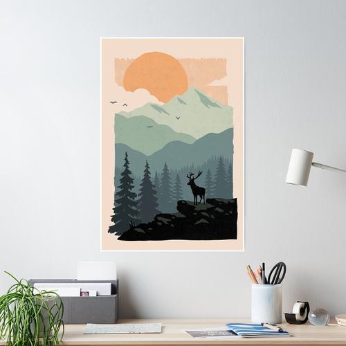 Deer forest Poster