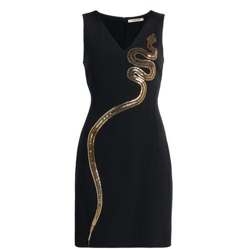 Roberto Cavalli Kleid mit Schlangen-Stickerei